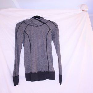 Lululemon  Striped Work Out Jacket With Hood